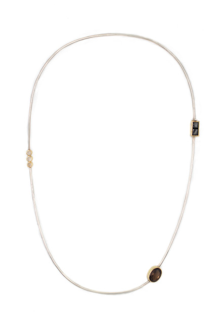 , 'Mixed Gem Stone Omega Necklace,' 2016, form & concept