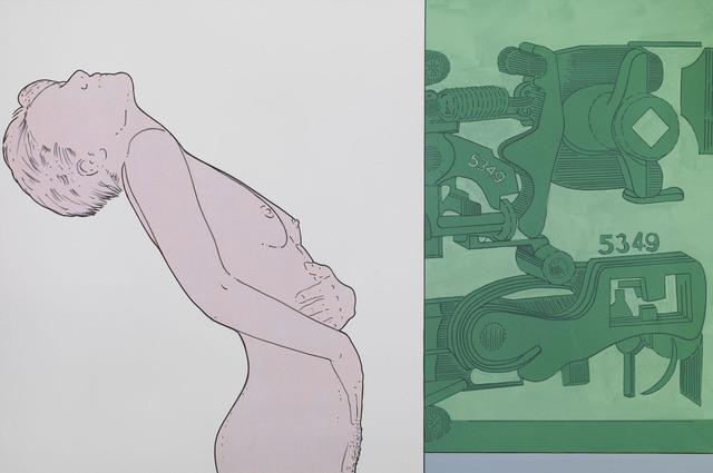Renato Mambor, 'Possibilità di sicurezza', 2010, Painting, Mixed media on canvas, Tornabuoni Art