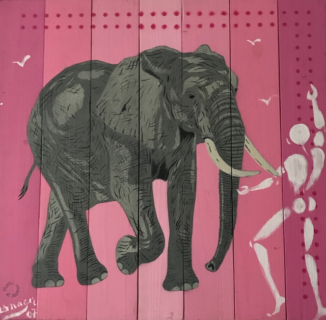 , 'The elephant and the human,' 2007, Galry