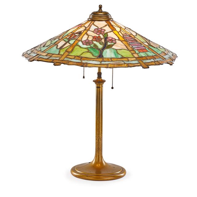 'Table lamp with Japonesque scene', Rago