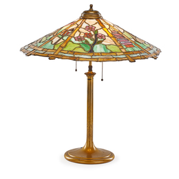 Table lamp with Japonesque scene
