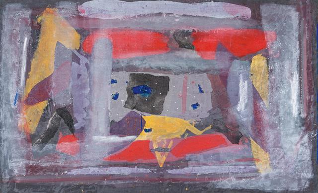 Sam Nhlengethwa, 'Abstract with Yellow Triangle', Strauss & Co