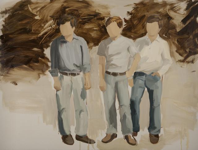 , 'Three Boys,' 2012, Rokeby Gallery