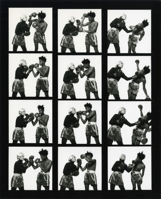 Michael Halsband, 'Andy Warhol & Jean-Michel Basquiat #121-#132 (contact sheet 11) New York City July 10, 1985', 1985, Gagosian