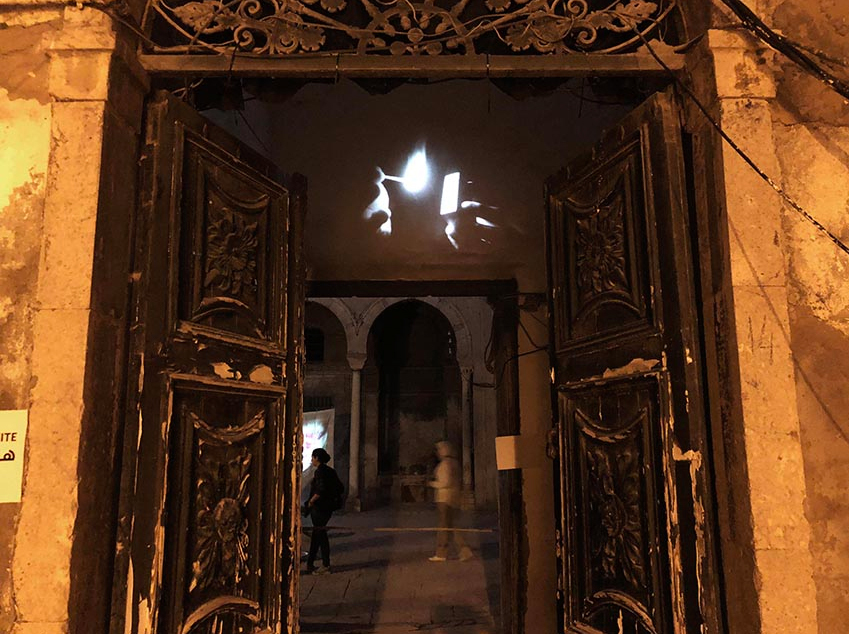 Interference / International Light Art Project Tunis, Tunisia, 2018 movie, mixed media