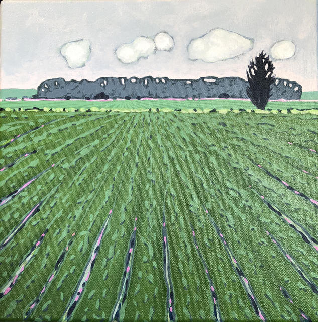 , 'Cypress Field,' 2018, The George Gallery