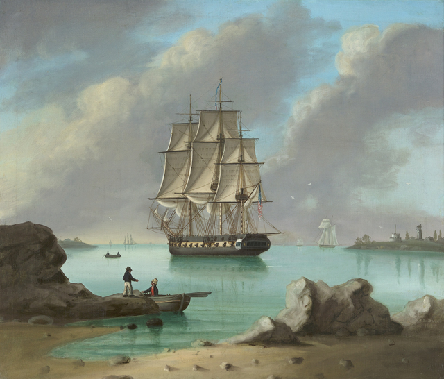 , 'US Frigate, New Castle, New Hampshire,' 1828, Debra Force Fine Art