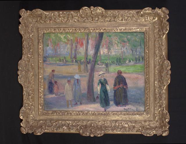 William James Glackens, 'Washington Square – The Green Dress', ca. 1910, Thomas Colville Fine Art