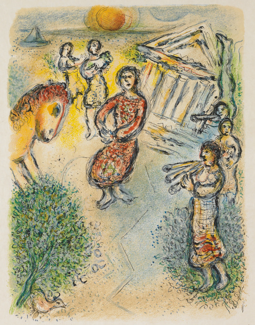 Marc Chagall, 'Preparations for the Candidates' Feast (M.805, L'Odyssée)', 1974, Martin Lawrence Galleries