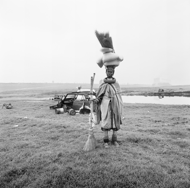, 'Ndebele women selling brooms, Nancefield, Soweto,' 1972, Goodman Gallery