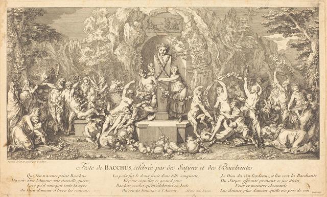 Claude Gillot, 'Feste de Bacchus, celebree par des Satyres et des Bacchantes (Feast of Bacchus Celeb rated by Satyrs and Bacchanales)', National Gallery of Art, Washington, D.C.