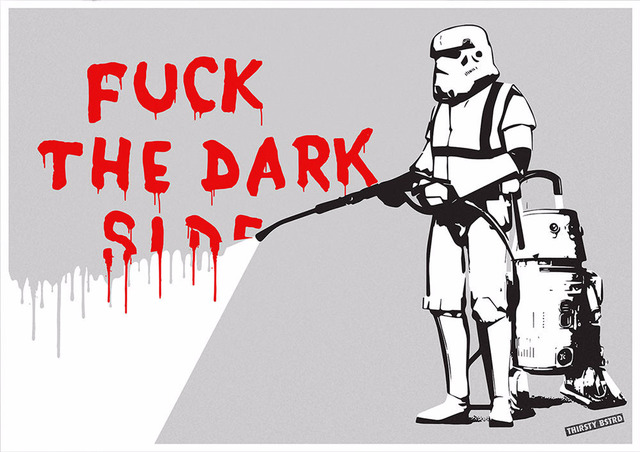 , 'F**k the Dark Side,' 2017, Reem Gallery