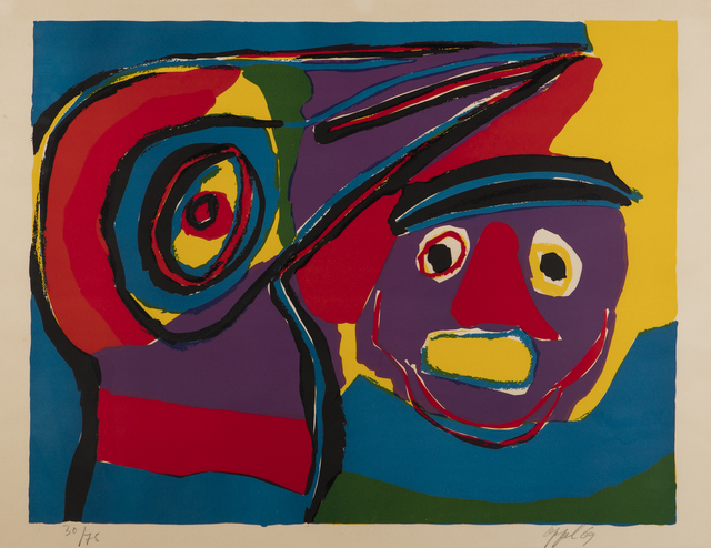 , '[Abstract Composition with Face],' 1969, Childs Gallery