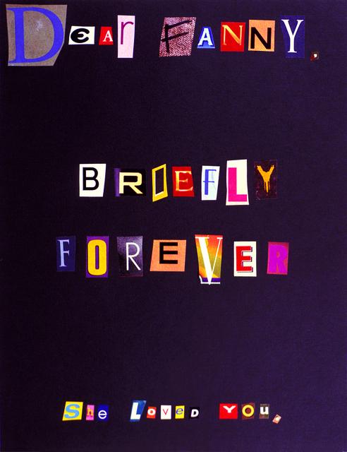 , 'Dear Fanny,' 2003, Jessica Silverman Gallery