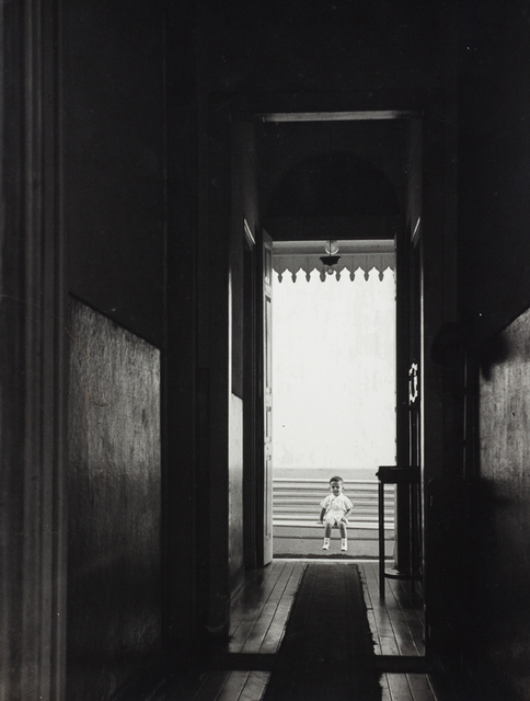 , 'Boy on the bench, 1955,' vintage, Utópica