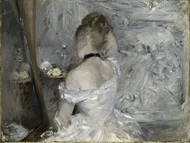 Berthe Morisot, 'Woman at her Toilette', 1875 -1880, Art Institute of Chicago