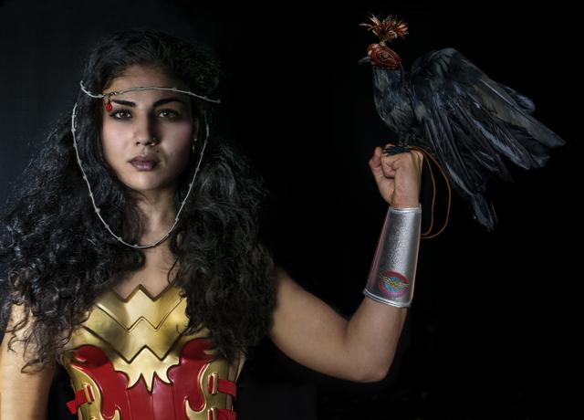 , 'Wonder Woman, Warrior,' 2017, Zhou B Haus der Kunst