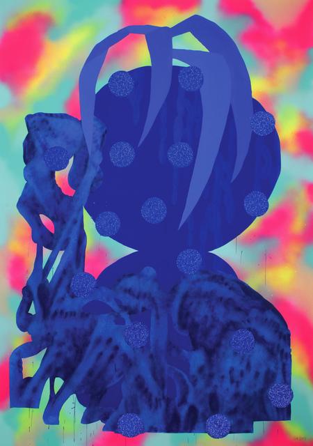 , ' Blue Plants Pot 3,' 2017, KOLLY GALLERY