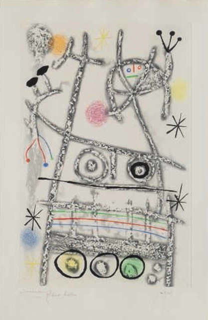 Joan Miró, 'Les forestiers (grey)', 1958, Christie's