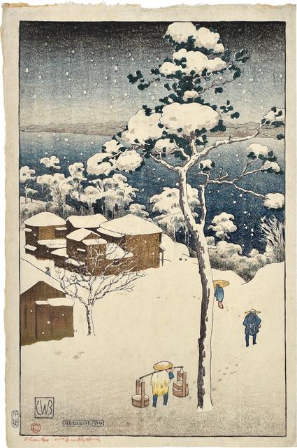 , 'Negishi,' 1916, Scholten Japanese Art