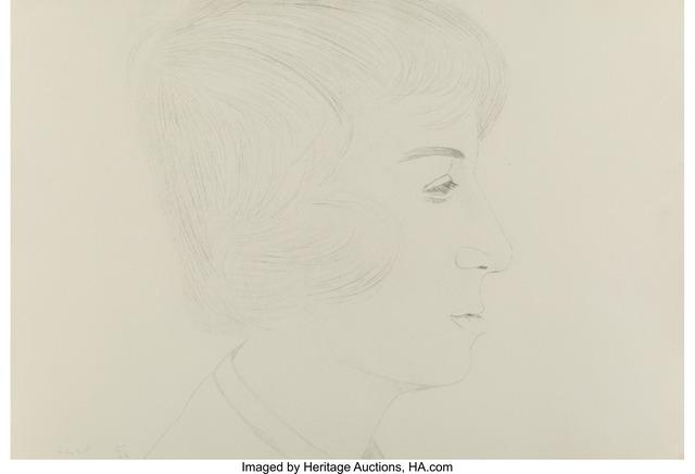 Alex Katz, 'Profile of Vincent', 1974, Heritage Auctions