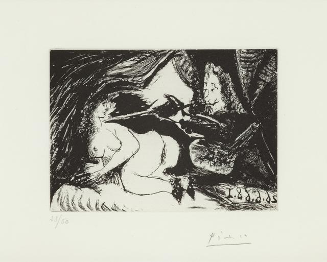 , 'Peintre peignant la nuque de son jeune modéle,26.6.68 I,' 1968, Alan Cristea Gallery