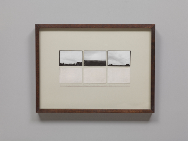 , 'Earth and Landform Study, Overton Hill, Dragon Hill, England,' 1980-1981, Parafin