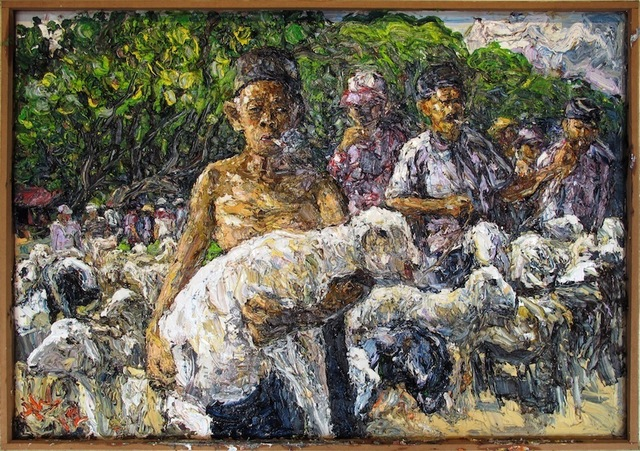 , 'Man with Sheep,' 2012, Equator Art Projects
