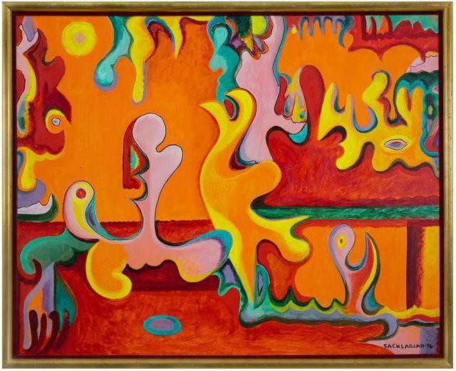 Stephen Sacklarian Rare Armenian American Abstract Artist