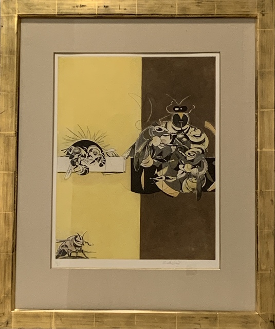 Graham Sutherland, 'Bees', 1977, Print, Etching and aquatint on paper, Anders Wahlstedt Fine Art