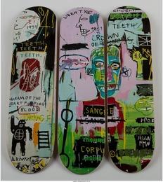 Skateboard Triptych in Italian