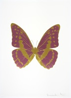 Damien Hirst, The Souls III - Loganberry Pink - Oriental Gold - Oriental Gold