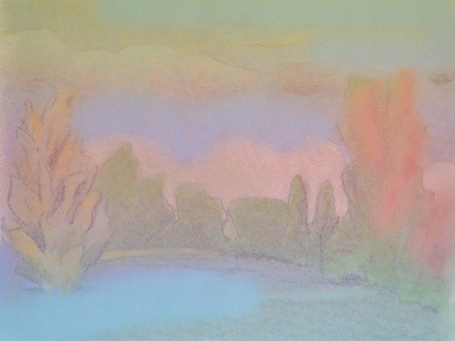 , 'Pink and Blue Landscape,' ca. 2017, Christopher West Presents