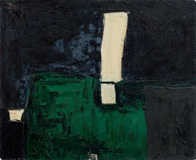 , 'Green, Black and White Abstract,' 1953, Osborne Samuel