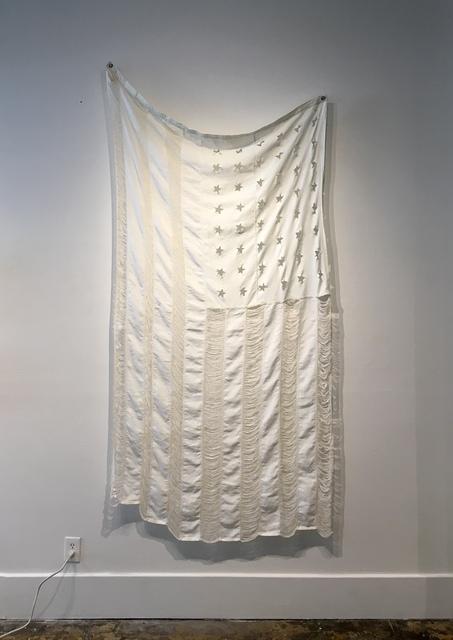 , 'Old Glory (whitewashed and threadbare),' 2018, ZINC contemporary