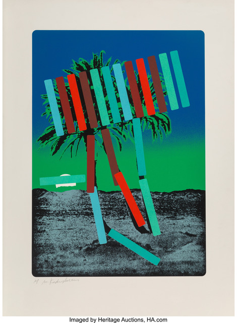 Menashe Kadishman, 'Teal and Red Palm', circa 1979, Heritage Auctions