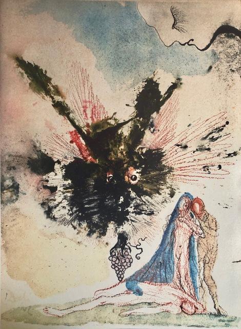 Salvador Dalí, 'Noah who Planted The First Vineyard, 'Noe Qui Primus Plantavit Vinea', Biblia Sacra', 1967, Mixed Media, Original Lithograph, Inviere Gallery