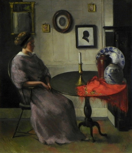 , 'Woman at Tea Table,' Early 20th c., Bakker Gallery