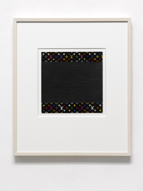 Frank Gerritz, 'LV (Monogramm)', 2009, Painting, Oil Painstick on printed Paper, PABLO´S BIRTHDAY