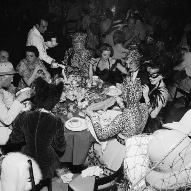 , 'Safari Party, circa 1950: Guests at a fancy dress party held at the Romanoff Restaurant in Hollywood,' 1950, Staley-Wise Gallery