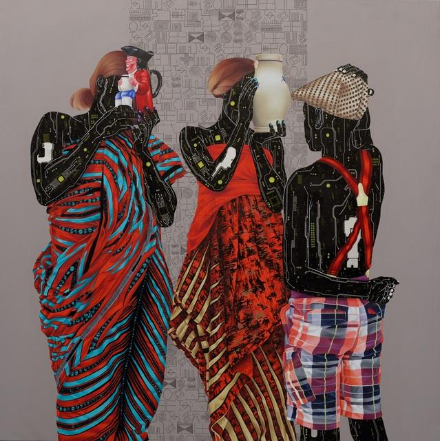 Eddy Kamuanga Ilunga, 'Mémoire Fragile 1', 2020, Painting, Acrylic and oil on canvas, October Gallery