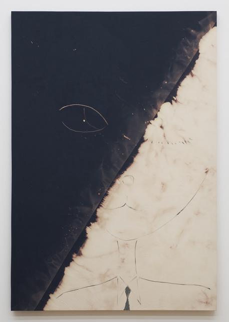 Tam Ochiai, 'face navy blue bleached', 2012, Painting, Acrylic, bleach on fabric, Tomio Koyama Gallery