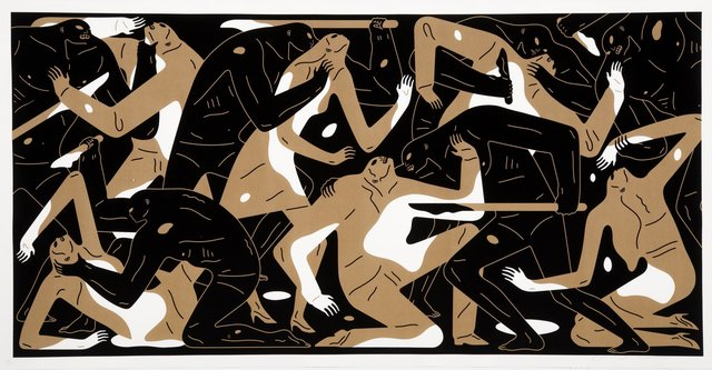 Cleon Peterson, 'Poison in the Mind (Gold)', 2019, Print, Screenprint in colors on Coventry Rag paper, Heritage Auctions