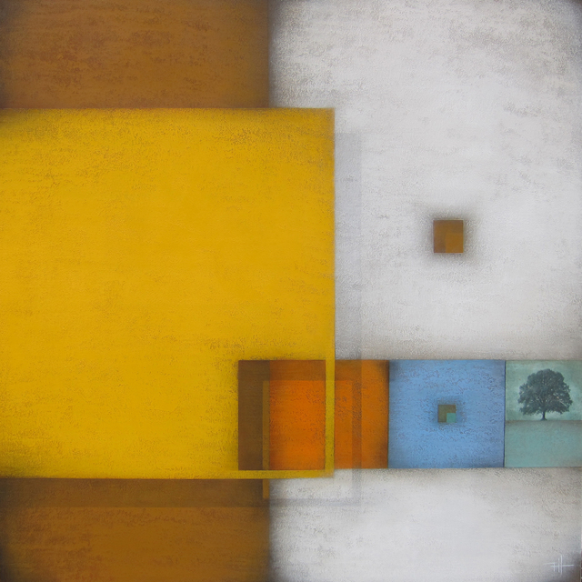 Frank Jensen, 'El jardí', 2018, Painting, Mixed on canvas, Galeria Jordi Barnadas