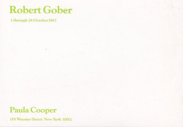 Robert Gober, 'Paula Cooper Gallery, Robert Gober, Card', 1987, Ephemera or Merchandise, Card, James Fuentes