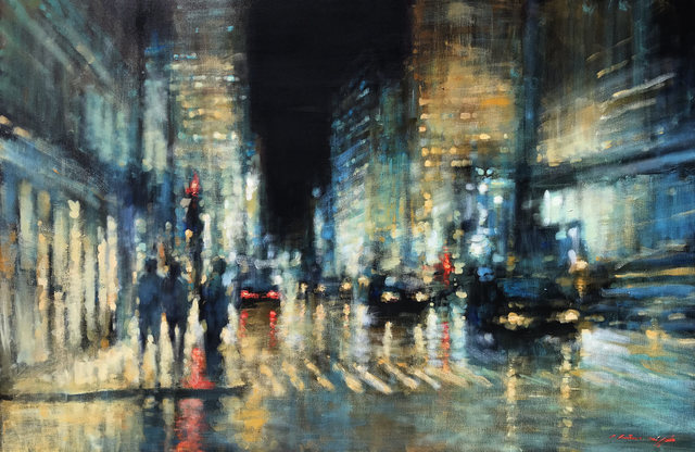 , 'Red Lights in the Rain,' 2019, Wentworth Galleries