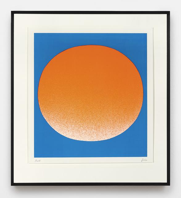 , 'orange auf blau (hell),' 1967, Ludorff