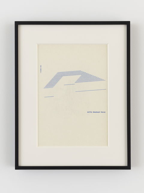 , 'partly abandoned theory,' 1971, Lisson Gallery