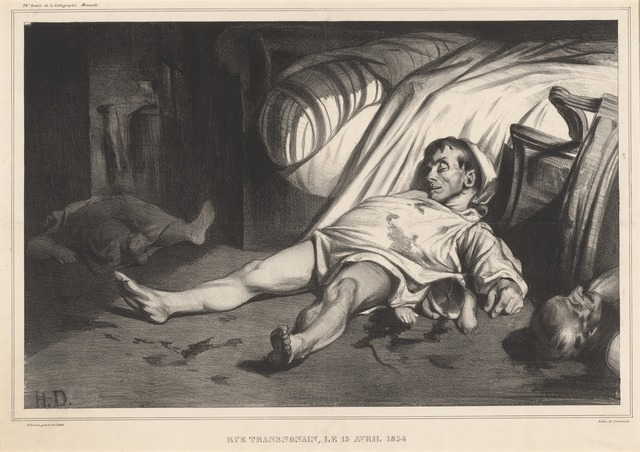 Honoré Daumier, 'Rue Transnonain, le 15 avril 1834', 1834, National Gallery of Art, Washington, D.C.