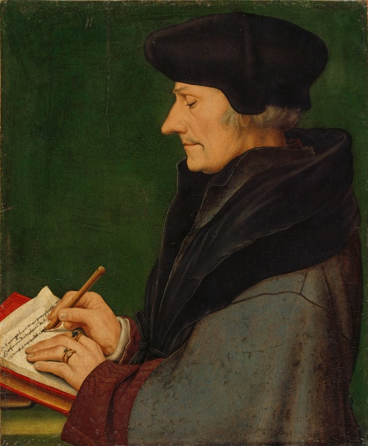 , 'Portrait of Erasmus of Rotterdam Writing,' 1523, Kunstmuseum Basel